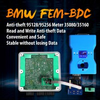 OEM BMW FEM-BDC 95128/95256 Chip Anti-theft Data Reading Adapter 8Pin Adapter Work with CG Pro 9S12