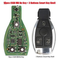 [7% Off $195.3] 10pcs Original CGDI MB Be Key with Smart Key Shell 3 Button for Mercedes Benz Get Free Diode Shipping by DHL